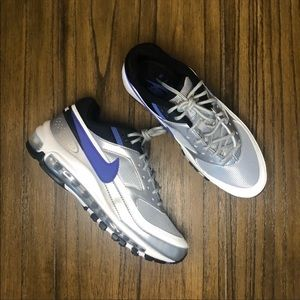 Nike Air Max 95 BW silver and blue sneaker shoe